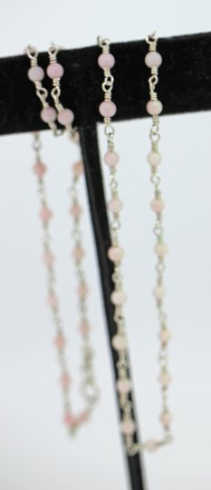 other Sterling Silver Wire Wrap necklace with Pink Coral Image 1