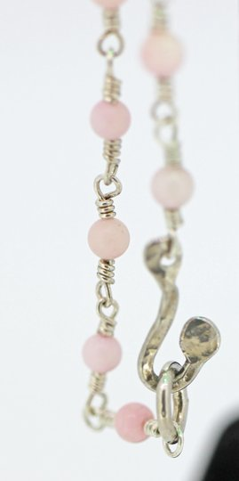 other Sterling Silver Wire Wrap necklace with Pink Coral Image 2