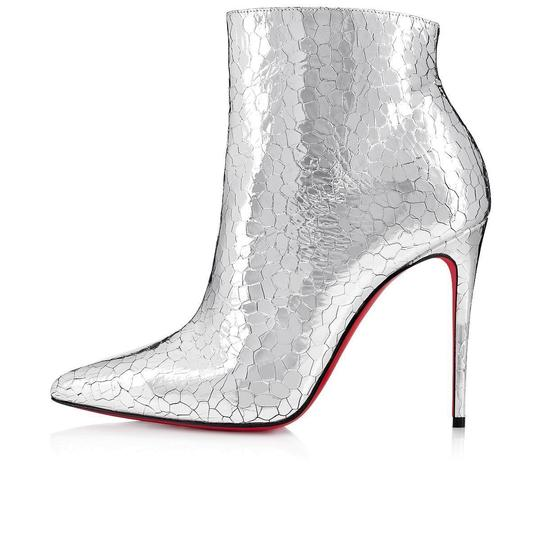 Christian Louboutin Stiletto Ankle Classic silver Boots Image 2
