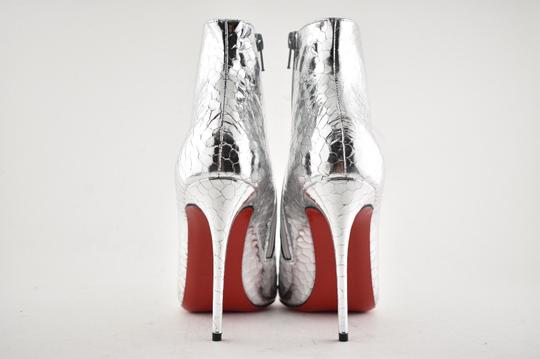 Christian Louboutin Stiletto Ankle Classic silver Boots Image 10