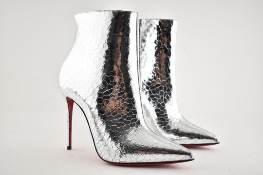 Christian Louboutin Stiletto Ankle Classic silver Boots Image 3