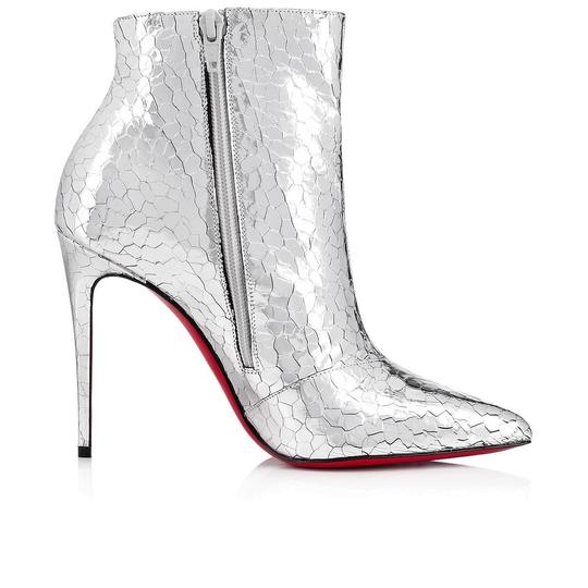 Christian Louboutin Stiletto Ankle Classic silver Boots Image 7