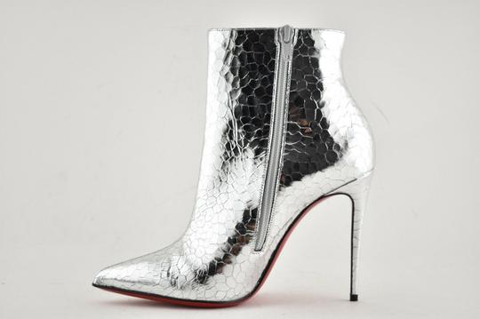 Christian Louboutin Stiletto Ankle Classic silver Boots Image 8