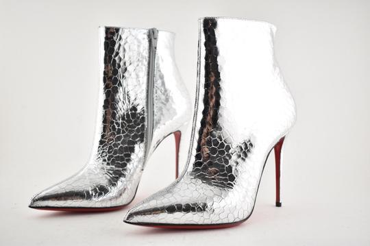 Christian Louboutin Stiletto Ankle Classic silver Boots Image 9