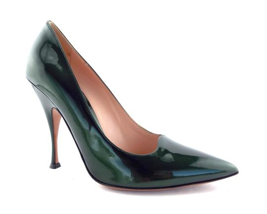 PALTER DeLISO Pointed Toe Karenelson Green Pumps Image 1