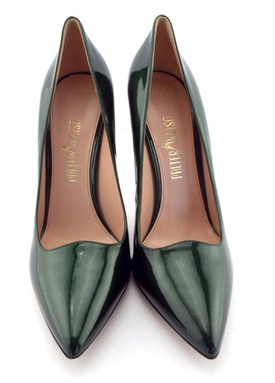 PALTER DeLISO Pointed Toe Karenelson Green Pumps Image 2