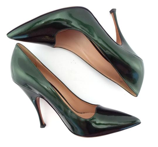 PALTER DeLISO Pointed Toe Karenelson Green Pumps Image 3