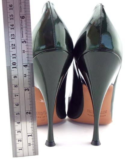 PALTER DeLISO Pointed Toe Karenelson Green Pumps Image 5