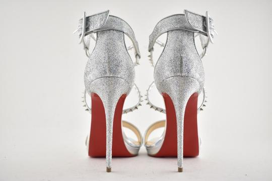 Christian Louboutin Stiletto Classic Choca Crisscross Strap Ankle Strap silver Pumps Image 10
