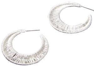 Anthropologie Wrapped Crescent Hoops