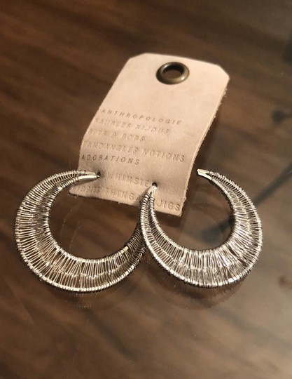 Anthropologie Wrapped Crescent Hoops Image 5