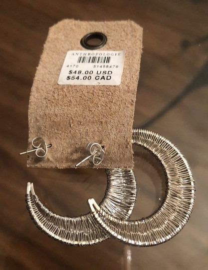 Anthropologie Wrapped Crescent Hoops Image 6
