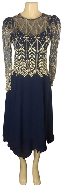 Preload https://img-static.tradesy.com/item/25283917/cachet-navy-and-gold-sheer-leaf-embroidery-mid-length-cocktail-dress-size-8-m-0-1-650-650.jpg