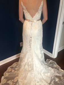 Casablanca Off-white Stunning Lace and Bead - Not Worn Modern Wedding Dress Size 6 (S)