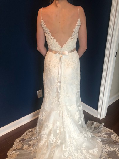 Casablanca Off-white Stunning Lace and Bead - Not Worn Modern Wedding Dress Size 6 (S) Image 3