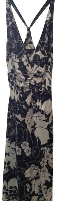 Preload https://img-static.tradesy.com/item/25284/bcbgmaxazria-blackcream-silky-stretch-strap-long-night-out-dress-size-4-s-0-0-650-650.jpg