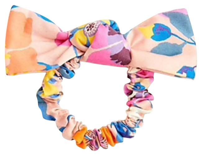 Item - Pink/Multi Knotted Tai In Libert Print Hair Accessory