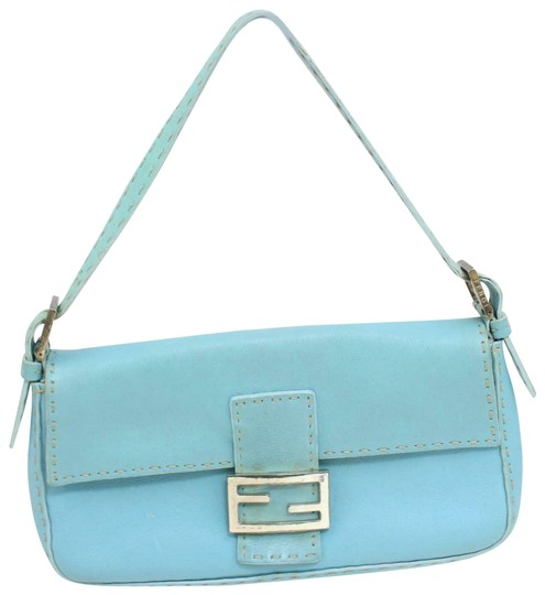 Preload https://img-static.tradesy.com/item/25284106/fendi-baguette-purse-super-soft-light-turquoise-blue-selleria-leather-with-taupe-contrast-stitching-0-1-540-540.jpg