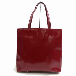 Prada Great Color Pop Multiple Compartment Mint Condition Tote in red patent leather and red leather