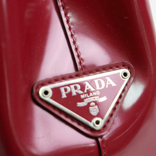 Prada Great Color Pop Multiple Compartment Mint Condition Tote in red patent leather and red leather Image 3