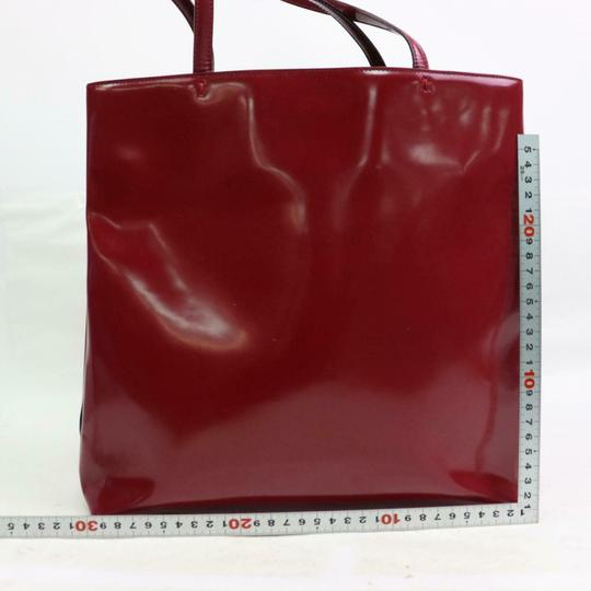 Prada Great Color Pop Multiple Compartment Mint Condition Tote in red patent leather and red leather Image 5
