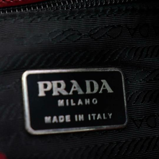 Prada Great Color Pop Multiple Compartment Mint Condition Tote in red patent leather and red leather Image 6