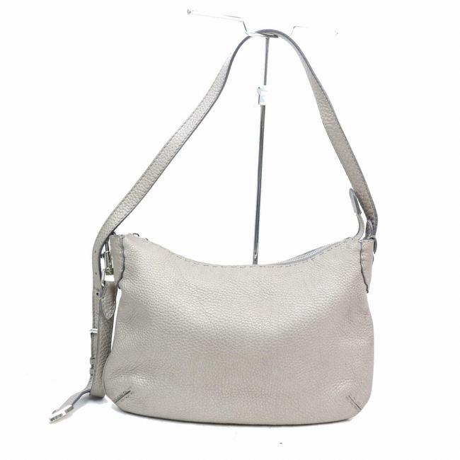 Item - Style Shoulder Or Cross Body Purse Silver/Grey Selleria Leather Hobo Bag