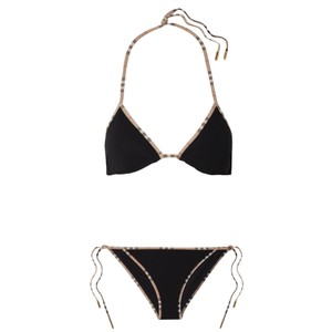 Burberry checked trimmed bikini set