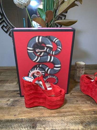 Gucci Red Platforms Image 10