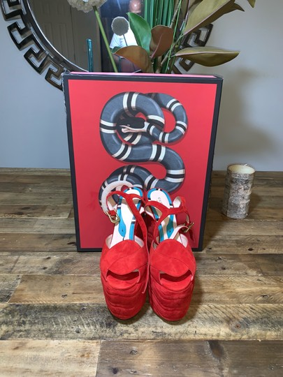 Gucci Red Platforms Image 5