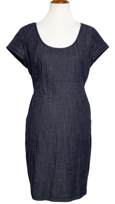 Preload https://img-static.tradesy.com/item/25284570/calvin-klein-blue-chambray-pocket-sheath-mid-length-workoffice-dress-size-14-l-0-1-650-650.jpg
