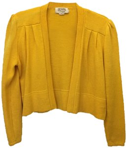 St. John Open Front Cropped Size 4 S Small Cardigan