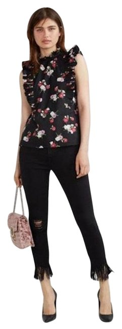 Preload https://img-static.tradesy.com/item/25284727/express-black-floral-ruffled-sleeveless-tank-topcami-size-8-m-0-1-650-650.jpg