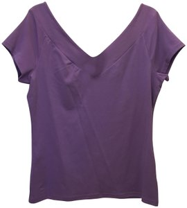 Lauren Ralph Lauren V-neck V-back Cap Sleeve New With Tags T Shirt Purple