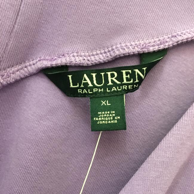 Lauren Ralph Lauren V-neck V-back Cap Sleeve New With Tags T Shirt Purple Image 2
