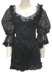 Foreplay Hollywood short dress Black Goth Costume Masquerade on Tradesy