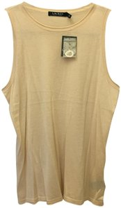 Lauren Ralph Lauren Sand Sleeveless Knit Tank New With Tags Sweater