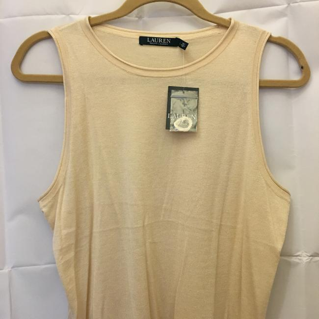 Lauren Ralph Lauren Sand Sleeveless Knit Tank New With Tags Sweater Image 1
