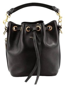 Saint Laurent Bucket Classic Small Gold Hardware Leather Cross Body Bag