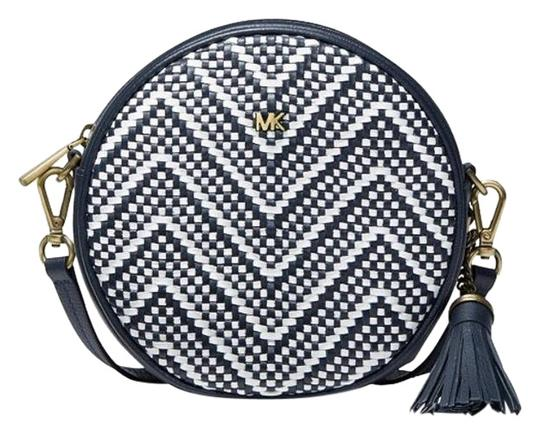 Preload https://img-static.tradesy.com/item/25284807/michael-michael-kors-canteen-chevron-woven-admiral-blue-leather-cross-body-bag-0-1-540-540.jpg