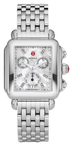 Michele Deco Stainless Mother Of Pearl Diamond Dial Mww06p000014