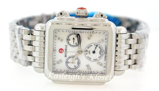 Michele Deco Stainless Mother Of Pearl Diamond Dial Mww06p000014 Image 10