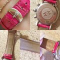Michele Pink Alligator Leather Crystal Michele CSX Chronograph Watch Image 9