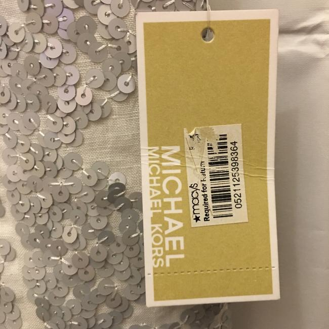 Michael Kors Linen Silver Sequins Size Sp Small Petite New With Tags Vest Image 3