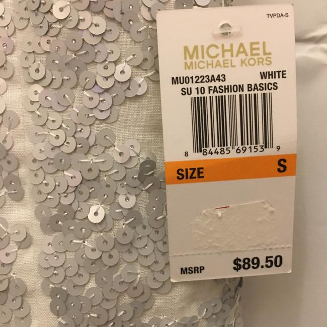 Michael Kors Linen Silver Sequins Size Sp Small Petite New With Tags Vest Image 4