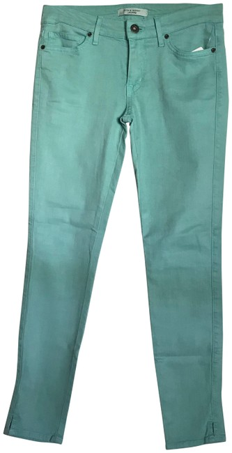 Item - Green New Stretch In Skinny Jeans Size 27 (4, S)