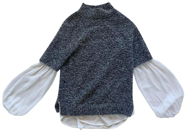 Preload https://img-static.tradesy.com/item/25285103/the-limited-gray-and-white-sleeved-sweater-like-new-blouse-size-2-xs-0-1-650-650.jpg