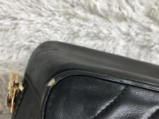 Chanel Vintage Leather Luxury Tote in Dark Gray Image 4