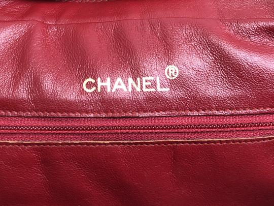 Chanel Vintage Leather Luxury Tote in Dark Gray Image 7