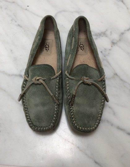 UGG Australia Driving Moccasin Suede green Flats Image 1